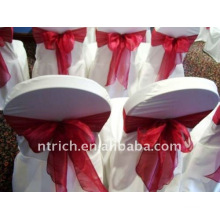Couverture de chaise de banquet standard, CT084 polyester matière, durable et facile lavable