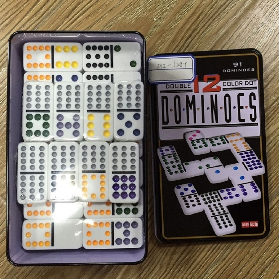 Double 12 Dominoes Set Tin Box