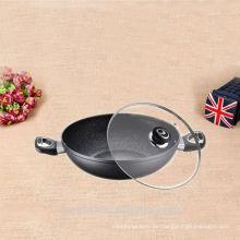 Emaille-Gussaluminium-Küchenausrüstung non-stick Wok