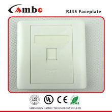 Alta qualidade 86x86mm AP Type RJ45 Network Single Faceplate com obturador
