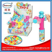 Buntes kühlendes Taschen-Hand-Antriebs-Fan-Spielzeug mit Süßigkeit