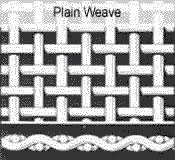 plain weave mesh