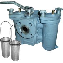 Filtro dúplex con válvula de tapón de tres vías conectada