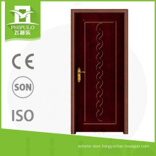 Popular in algeria market intensify pvc interior door with classial design from china supplier