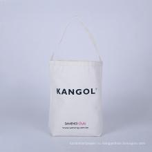 белый хлопок дорожная сумка оптом гладкая хлопчатобумажная ткань, натуральный мешок одежды дешевые мешок хлопка