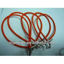 cordón elástico con extremos de plástico, etiquetas elásticas de tesorería