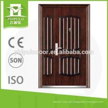De boa qualidade portas de aço baratas da segurança do aço da porta principal do projeto