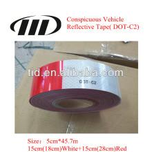 Erkennungszeichen Fahrzeug Reflexfolie (DOT C-2)
