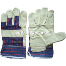 Light Color Patched Palm Furniture Leather Work Glove--4002