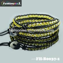 Fashionme пять круг кристалл браслет