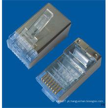RoHS Aprovado S / FTP Conector CAT6 RJ45 (CE)