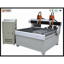 Máquina giratória do rolo do CNC da Dobre-Cabeça