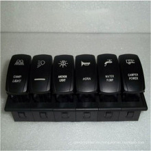 ¡Caliente! 6 interruptores en 1 unidad Arb Carling interruptor de botón