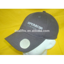 100% cotton twill with beer opener and emboridery baseball hat made in china