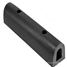 Deers black/grey epdm d section fender for boat and quay