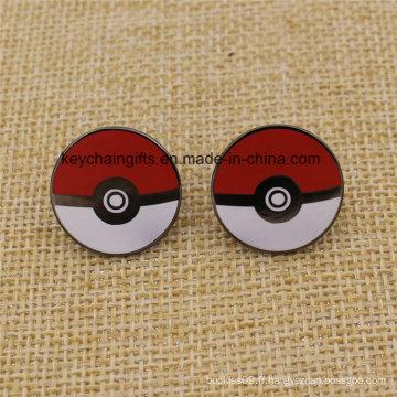 Badges de Pokemon de métal d'émail dur fait sur commande de vente chaude
