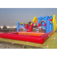 Commercial Quality Inflatable Water Slides With Pool Inflat