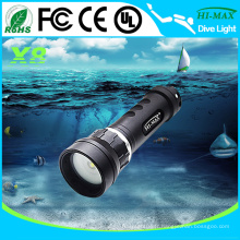 Lampe de poche de plongée sous-marine à grand angle