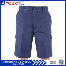 Cotton Drill Navy Blue Cargo Work Shorts (YGK114)