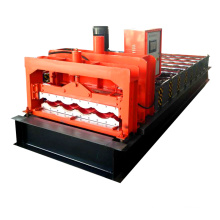 New design botou hebei supplier canton fair 828 glazed aluminum colored roof tile glazed tile roll forming machine