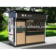 BKH-43 outdoor steel kiosk furniture customized for magazine and newsstand
