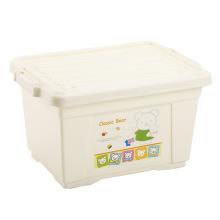De dibujos animados beige caja de almacenamiento de plástico con bloqueo (SLSN051)