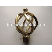new design of antique brass twisted iron curtain rod ends