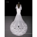 Nuevo diseñador Jewel neckline Sweetheart neckline vestido de novia sexy