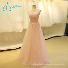 Кружева Аппликация Блестками Бисером Рукавов Розовый Свадебное Платье