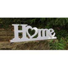 Signe de lettre en bois de PVC
