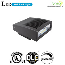 Outdoor full cutoff wall pack led light 100w dlc rotate