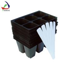 Bandeja de semillas de germinación de plástico para bandejas de verduras de invernadero