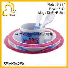 Fábrica de atacado 5 pcs crianças usam melamina jantar ware