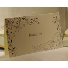Impresión de tarjetas de invitación personalizada de alta calidad