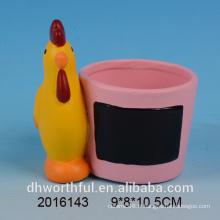 Vente en gros de pot de fleurs en céramique avec tableau noir