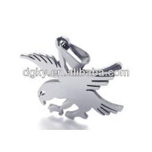 Aço inoxidável águia pingentes encantos