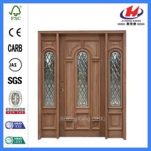* JHK-12-1 Hand geschnitzte Holz Türrahmen geschnitzte Holz Tür Platten Holz Schnitzen Tür Designs