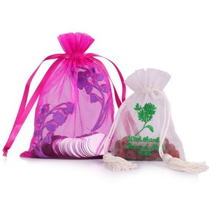 Customized festival candy gift organza drawstring bag