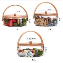 Handmade High Borosilicate Airtight Glass Storage Jar Set