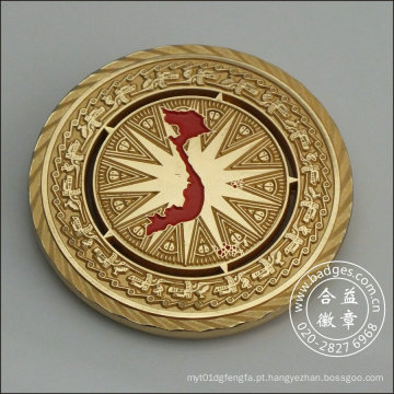 Emblema de ouro redondo, Coin Housing Decoration (GZHY-DH-082)