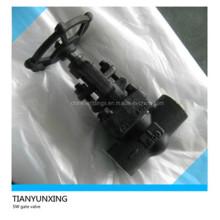 Ручной колпачок API Кованый угольный стальной запорный клапан