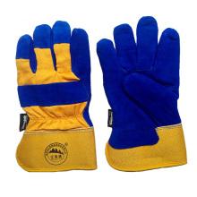Vaca de cuero dividido de trabajo de seguridad de invierno de protección guantes calientes para trabajar