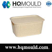 Plastic Injection Rattan Basket with Lid Mould