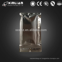 Medio sello semi claro medio bolsas de aluminio para el caso de iphone bolsa de embalaje