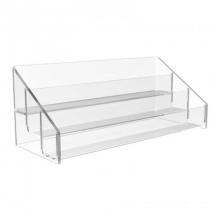 3 Tier Clear Acrílico Counter Top Shelf Display, Pantalla de posición