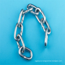 Cadena de enlace Industrial acero carbono galvanizado