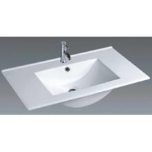 Bassin de salle de bains en céramique à vanité fine (100E)