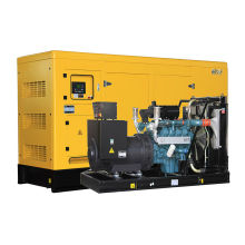 soundproof electric diesel generator set by Korea Doosan price prime 400kw