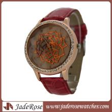 Red Rose Dial Ladies Quartz Fashion Watch