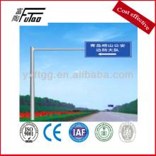 outdoor steel signs poles